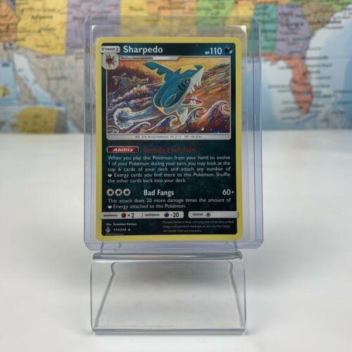 SHIPS SAME DAY Pokemon Card TCG Sharpedo 111/214 Stage 1 Dark Type 2019 Rare