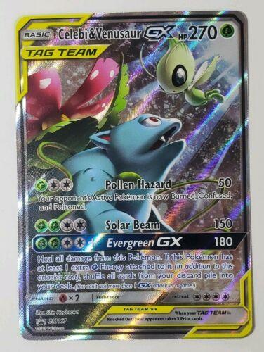 Celebi /& Venusaur GX ULTRA RARE SM Tag Team Up 1//181 Pokemon Sun And Moon NM