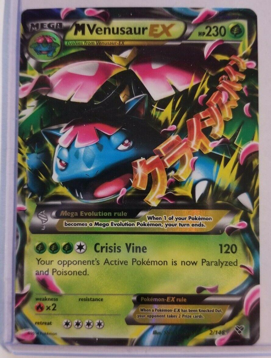 NM MEGA Pokemon M VENUSAUR EX Card BASE XY Set 2//146 Ultra Rare X and Y 230 HP