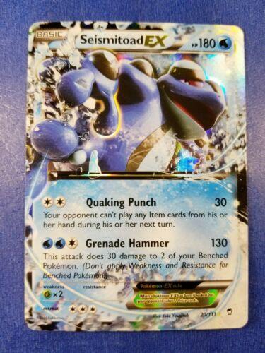 Ultra Rare - Seismitoad EX 20//111 - XY Furious Fists x1 NM-Mint!!!