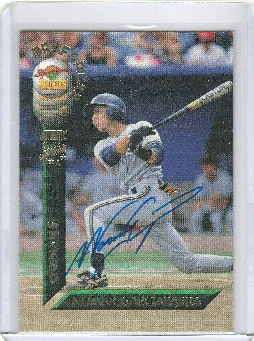 1994 Signature Rookies Draft Picks Autographs//7750 #12 Nomar Garciaparra Auto