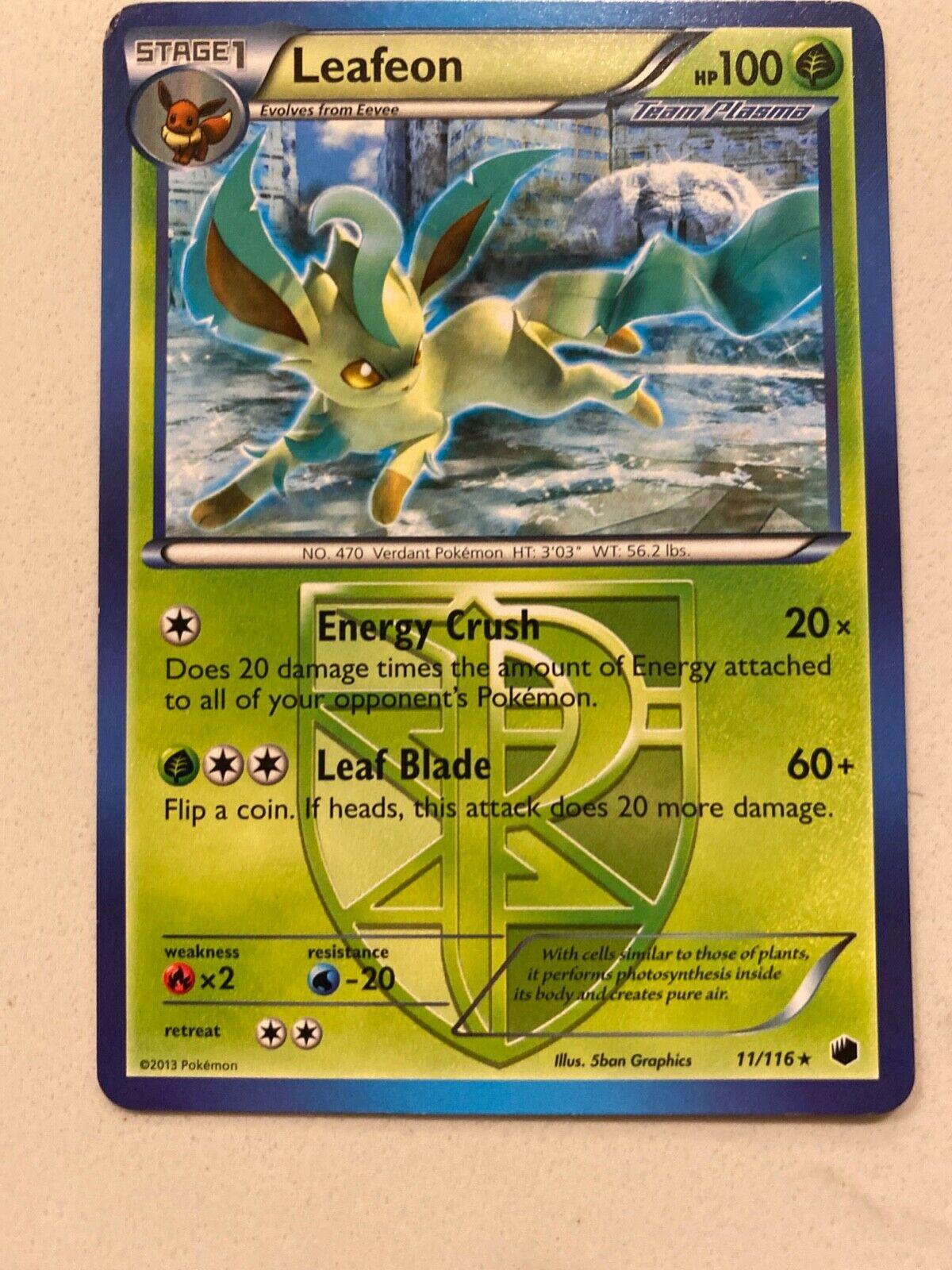 Pokemon Leafeon 11//116 Reverse Holo Rare NM//M