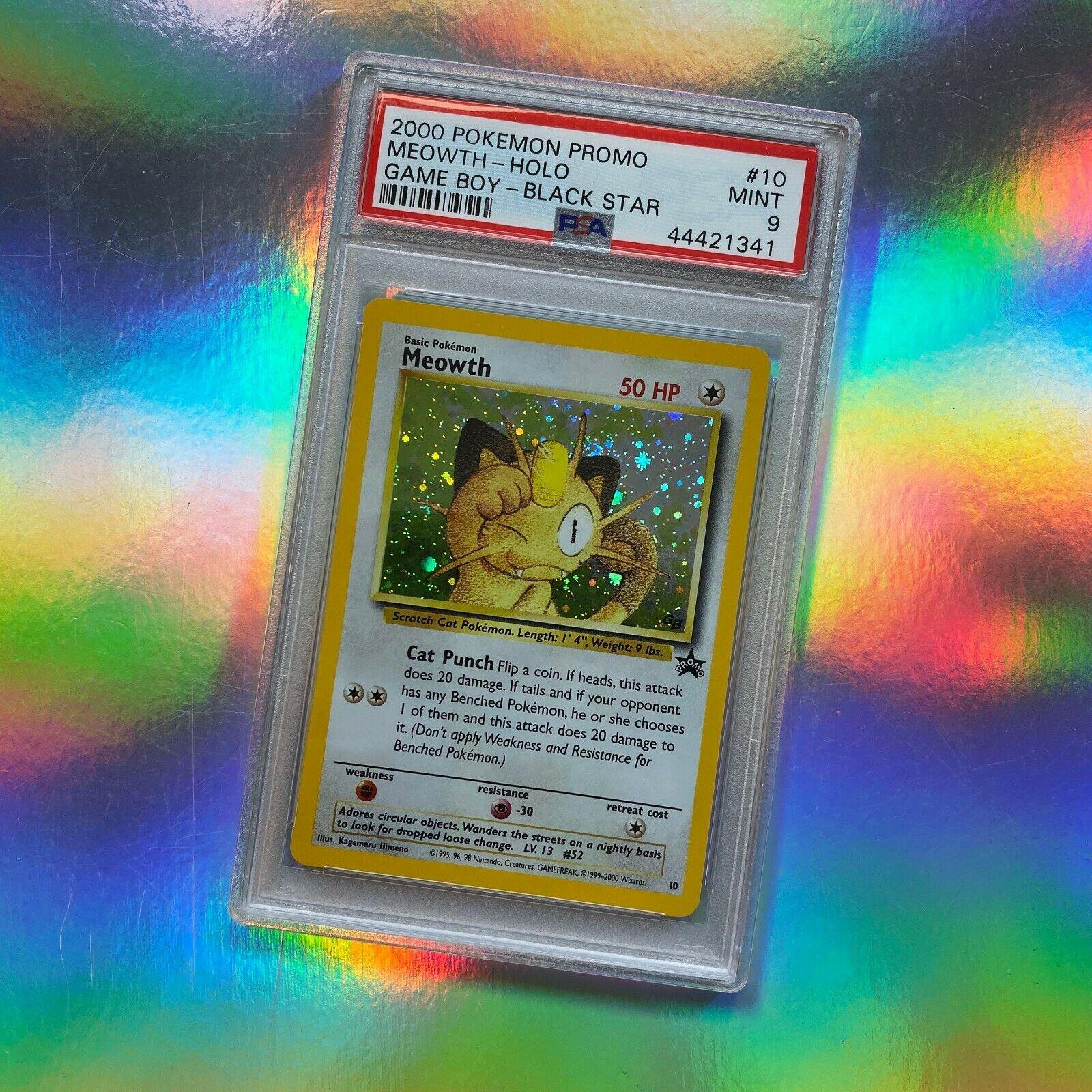 2000 Pokemon Black Star Promo #18 TEAM ROCKET/'S MEOWTH  WOTC   PSA 9  MINT