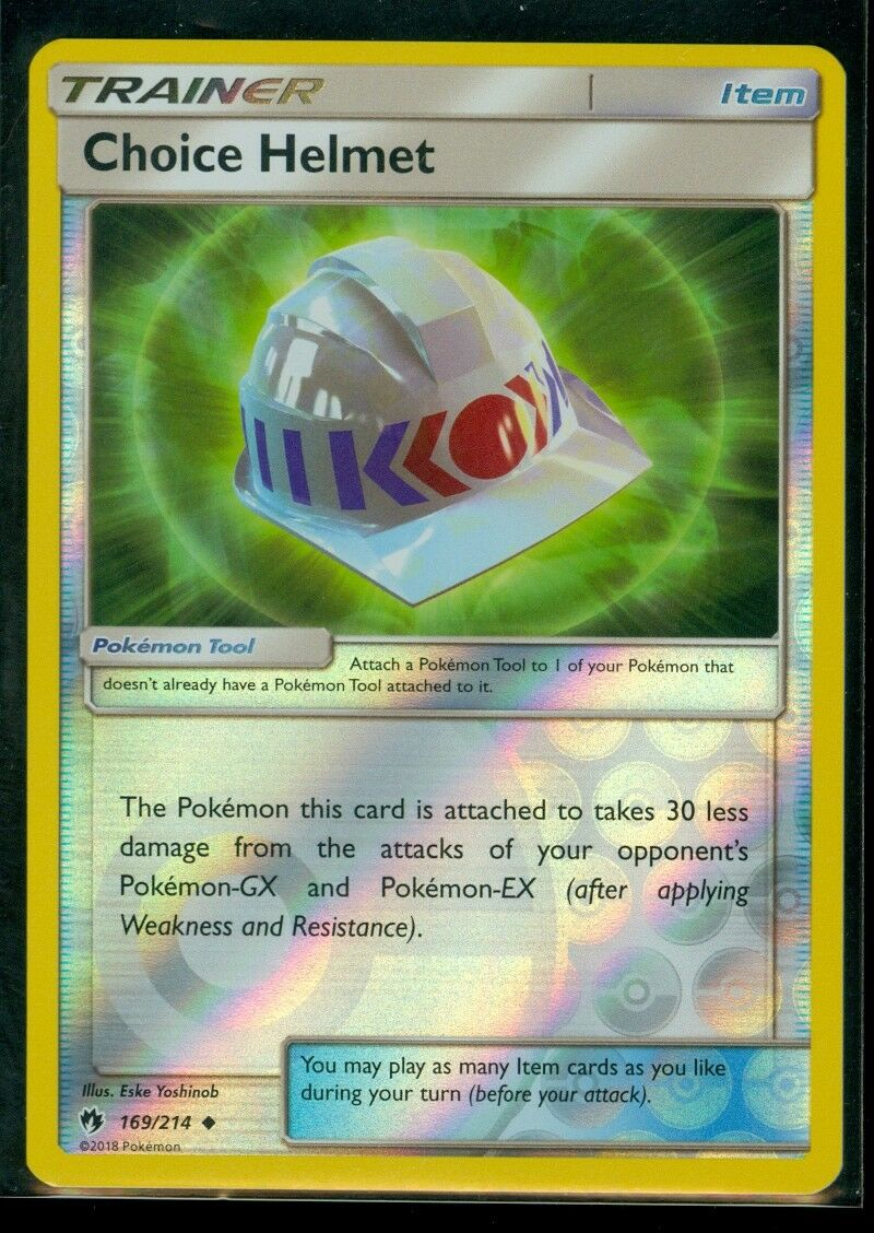 SM8 Lost Thunder Reverse Holo NM//M 2x Choice Helmet 169//214 Pokemon