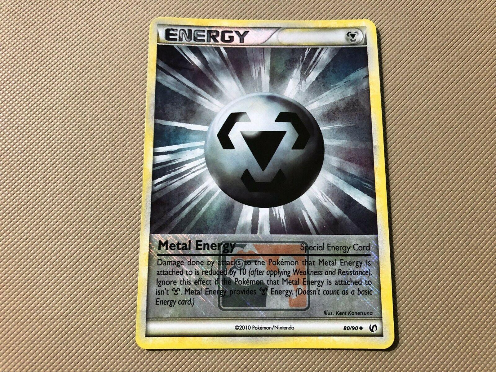 POKEMON LEAGUE PROMO CARD REV HOLO HGSS UNDAUNTED METAL ENERGY 80//90