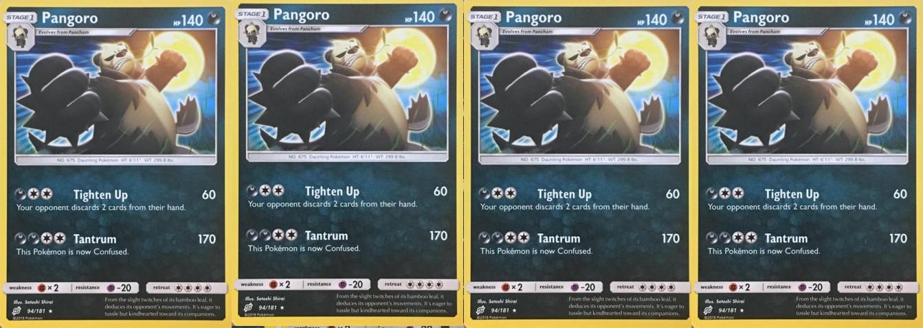 NM-M Pangoro 94//181 Rare Pokemon TCG SM9 Team Up