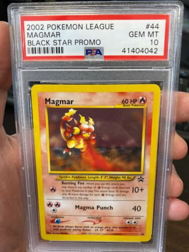 #44 MAGMAR NM POKEMON BLACK STAR PROMO CARD