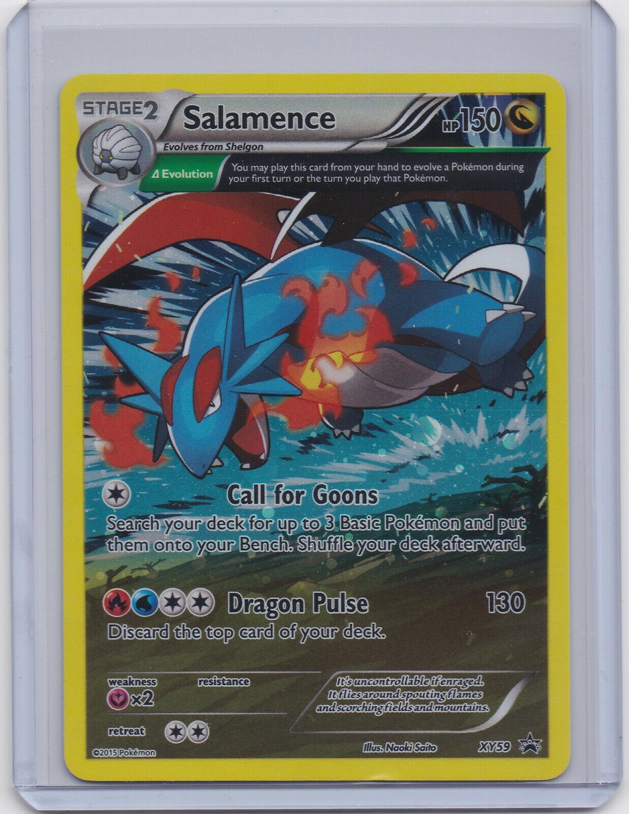 Pokemon CCG Salamence XY59 Holo Foil Black Star Promo Near Mint