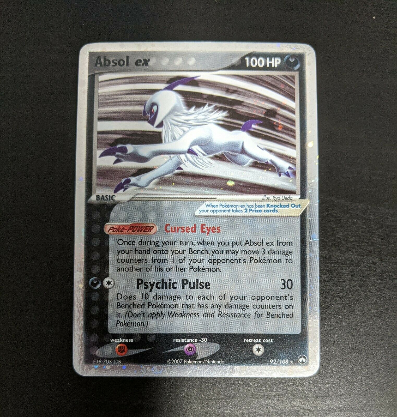 Ultra-Rare NM Power Keepers Pokemon K5K Absol ex 92//108
