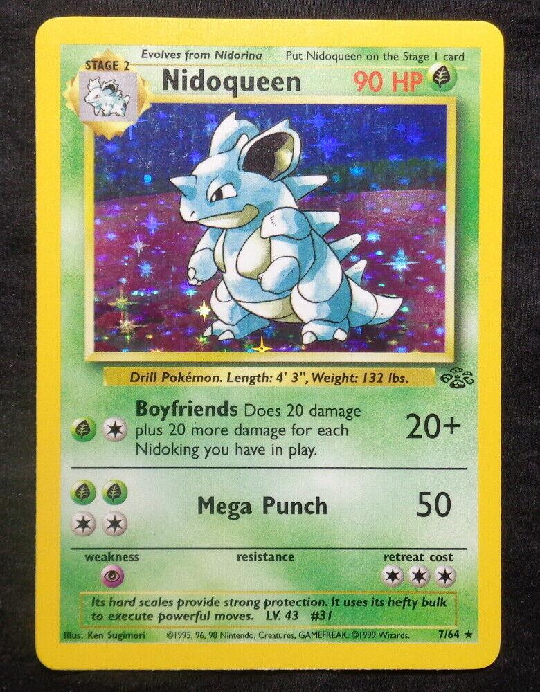 Nidoqueen Holo Foil Pokemon TCG Card Jungle Set 7//64 1999 Moderate Play