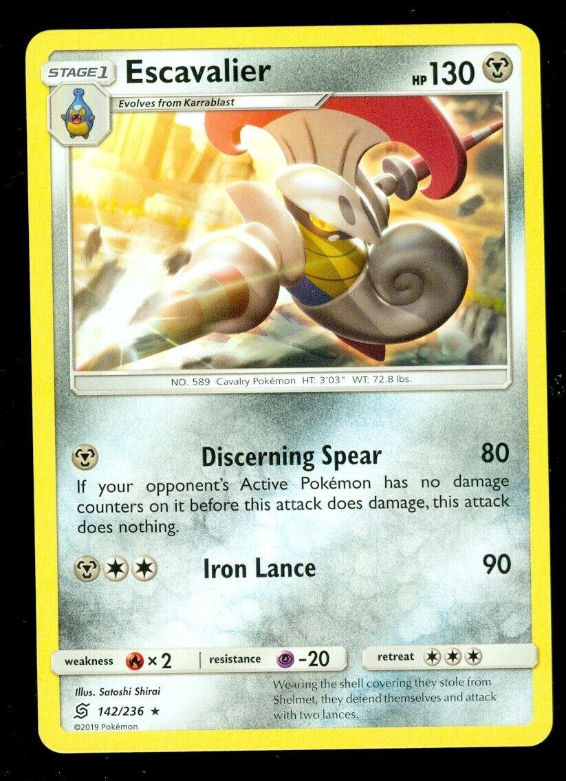 Pokemon ESCAVALIER 142/236 Unified Minds RARE - - MINT