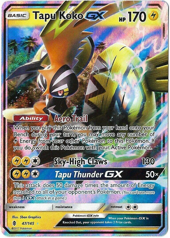 Pokemon Guardians Rising Tapu Koko-GX 47//145 Ultra Rare Card