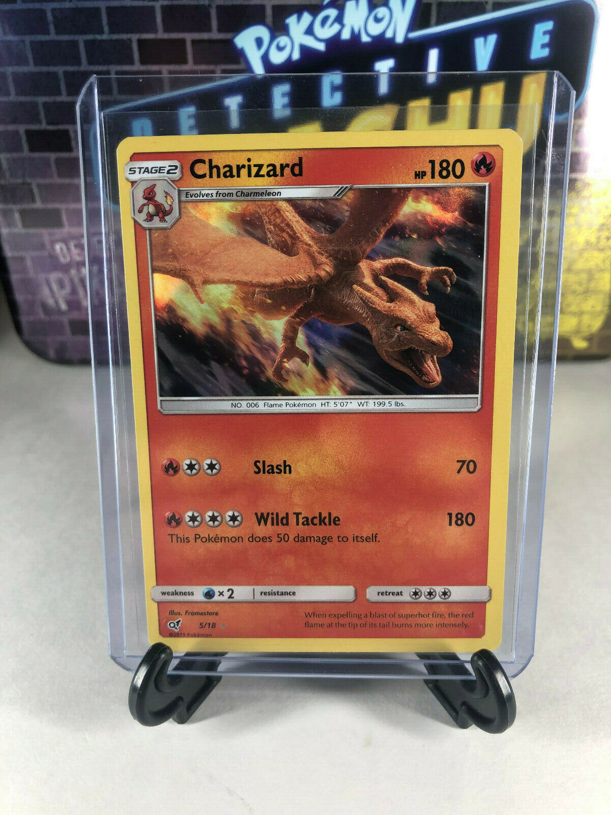 Pokemon Charizard 5 18 Promo Rare Detective Pikachu Movie Card