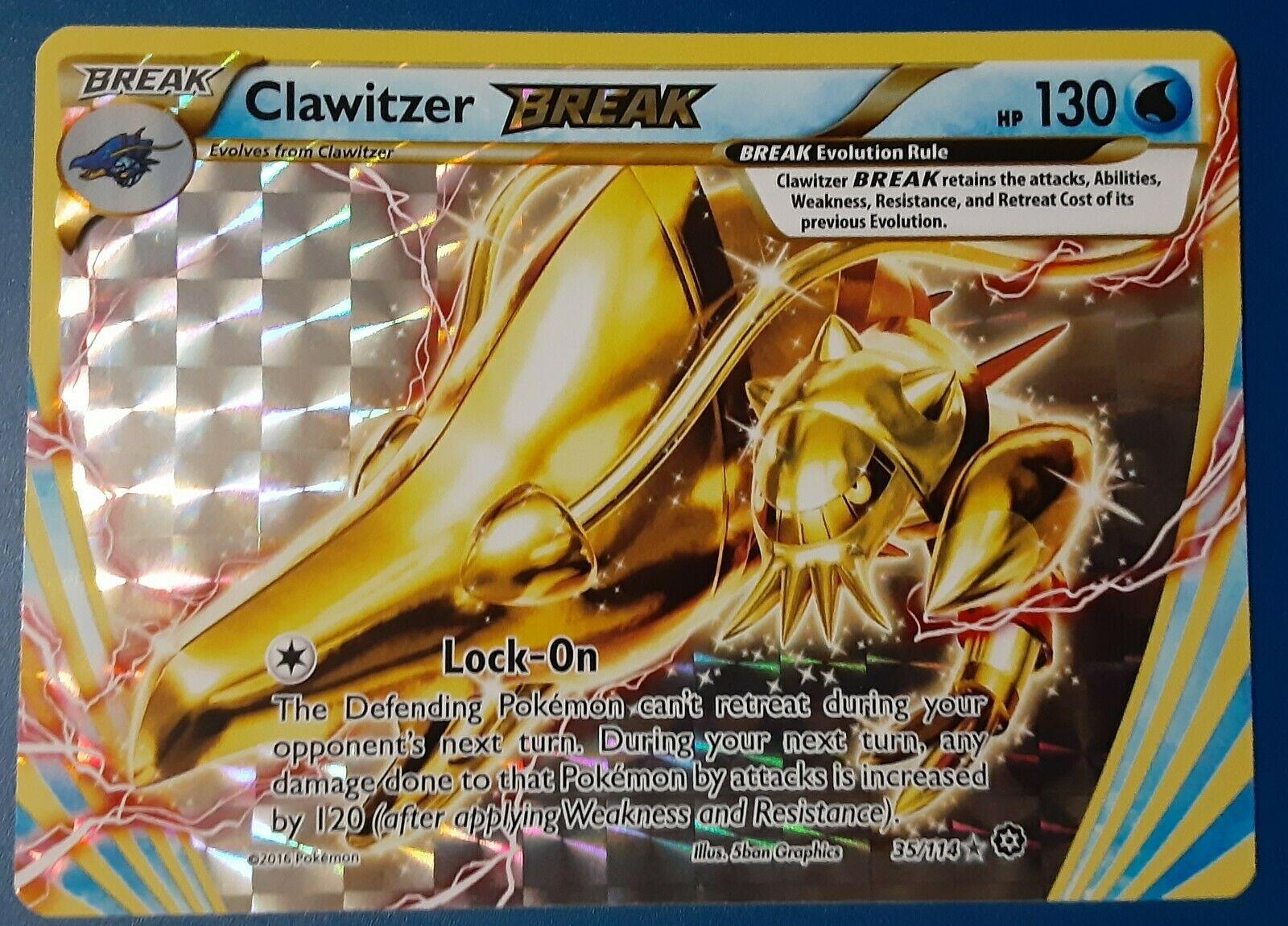 Rare! Pokemon Steam Siege Clawitzer Break