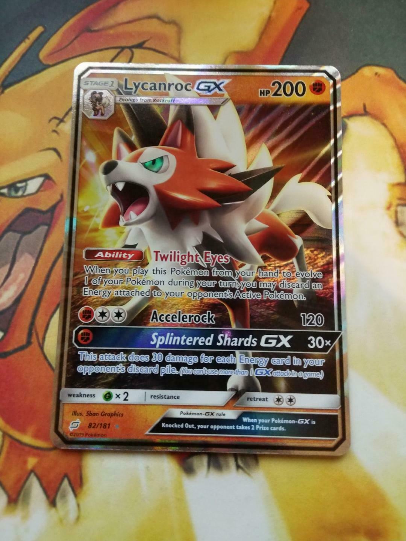 Pokemon Lycanroc GX 82//181