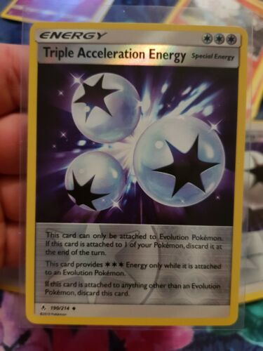 4x Triple Acceleration Energy Uncommon Reverse Holo NM-Mint Pokemo 190//214
