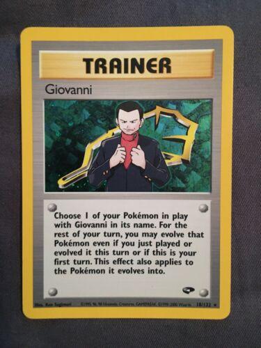 Giovanni Trainer Holo Gym Challenge Japanese EX-NM Pokemon Card
