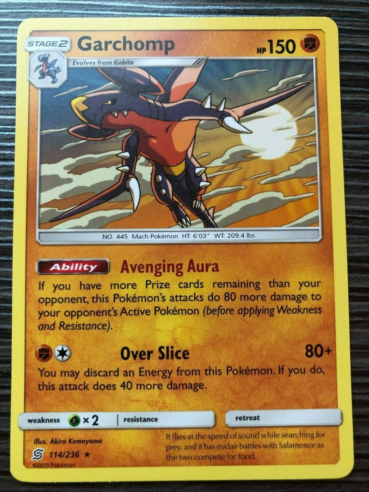 114//236 Unified Minds Holo Rare NM-Mint Pokemon SM11 4x Garchomp