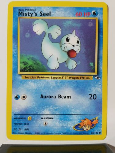 Misty/'s Seel 88//132 1ST EDITION Gym Heroes Set Pokemon Card EXCELLENT