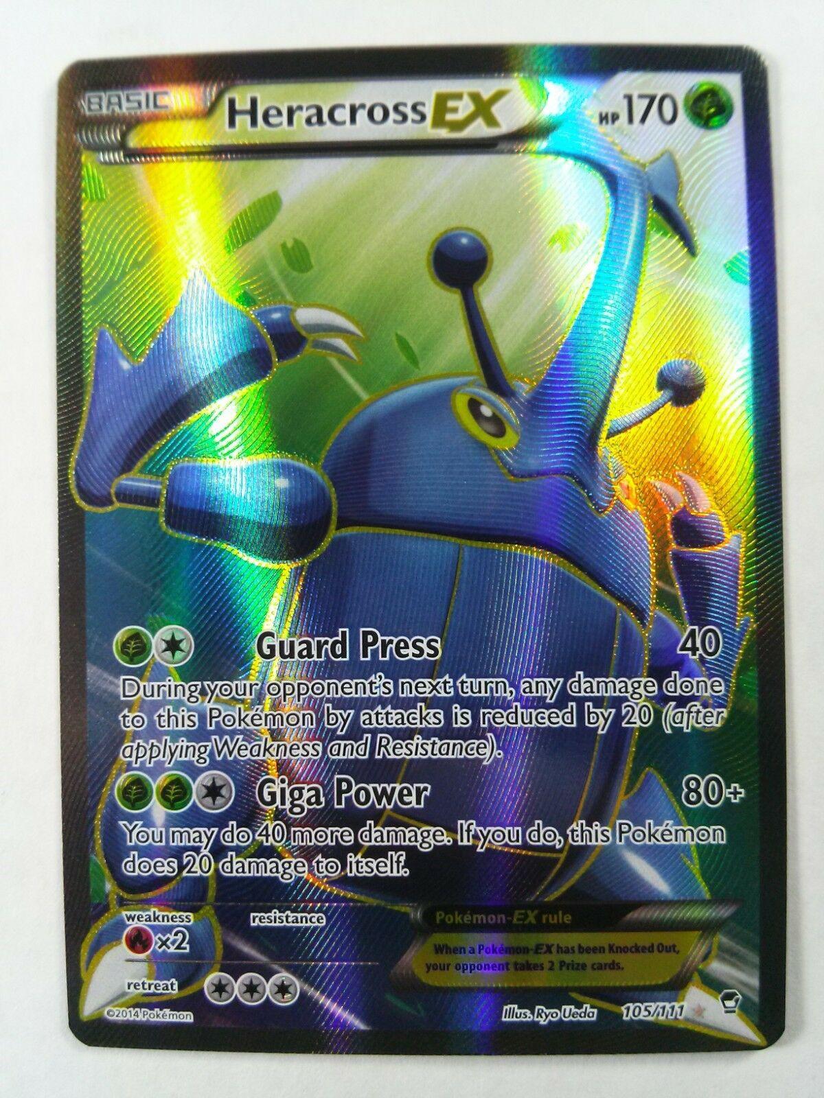 Pokemon Furious Fists Heracross EX #105//111 FULL ART Rare Holo Card