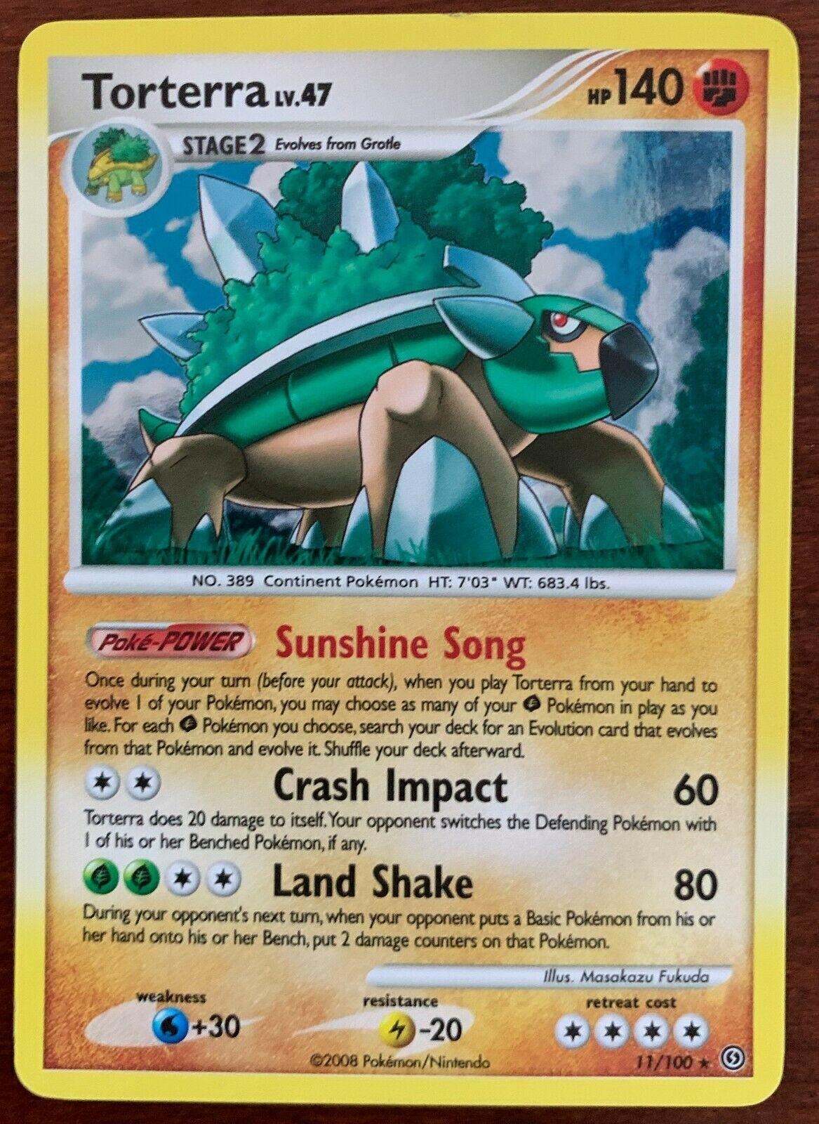 Pokemon Card Torterra LV.47 Stormfront 11//100 EXCELLENT Holo Rare TCG!!!!!!!!!!!