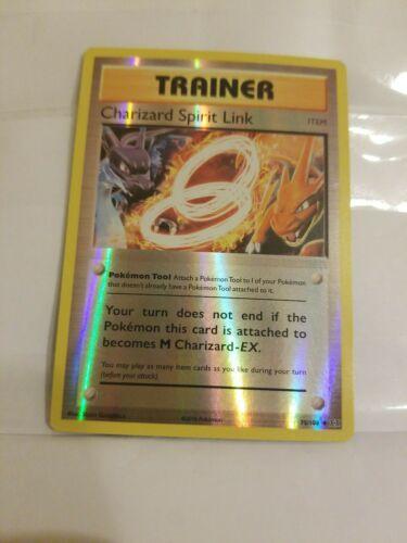 75//108 4x Charizard Spirit Link Uncommon Pokemon XY Evolutions NM