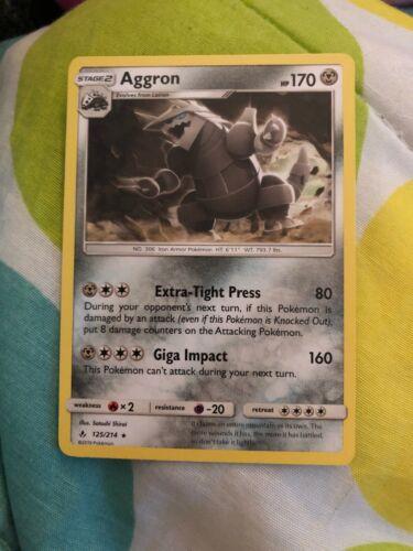 Aggron 125/214  Sun & Moon: Unbroken Bonds  Rare  Mint/NM  Pokemon
