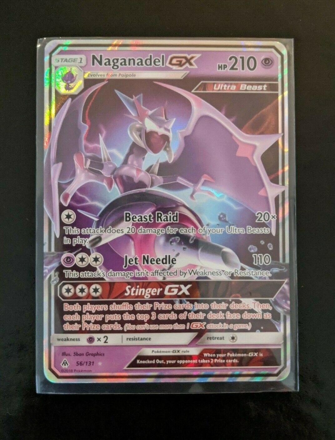 Naganadel GX 56//131 Sun Moon Forbidden Light Ultra Rare full art holo holofoil