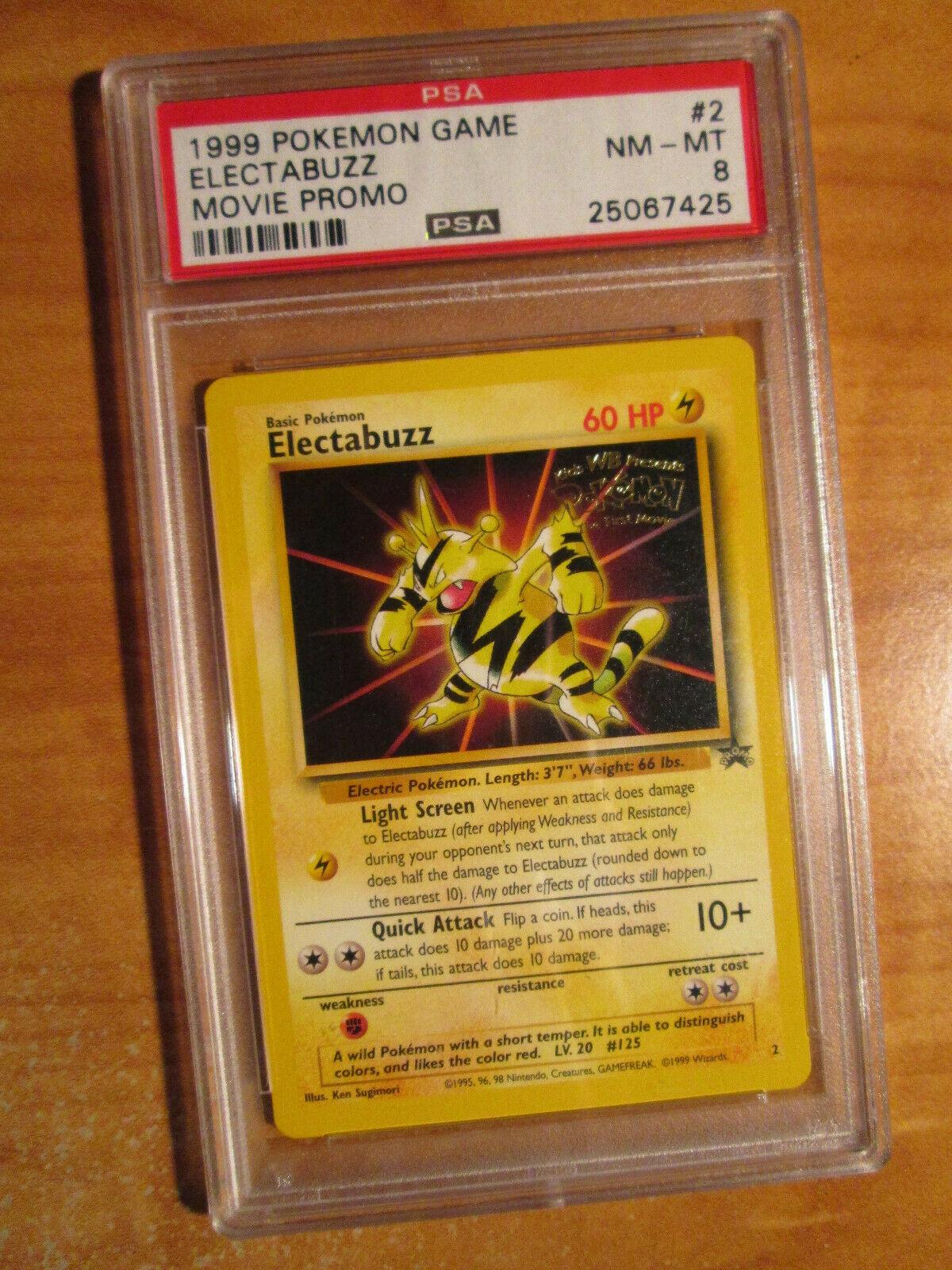 NM Pokemon Promo Cards Collection Rare Electabuzz WB Promo #2
