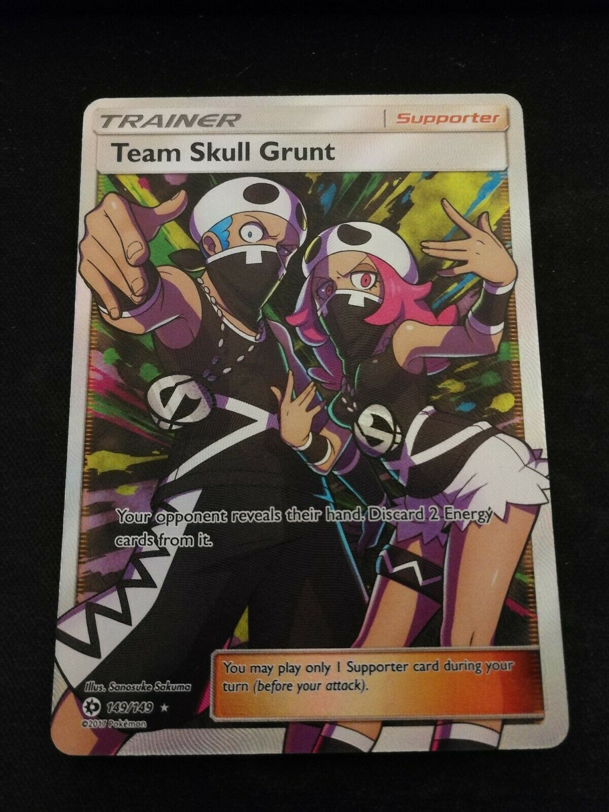 SM BASE SET 4 X TEAM SKULL GRUNT 133//149 UNCOMMON Pokemon