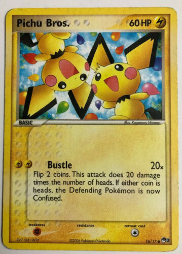With Tracking Pichu Bros.16//17 Pop Series 3 Pokemon Card Pokemon Promo NM