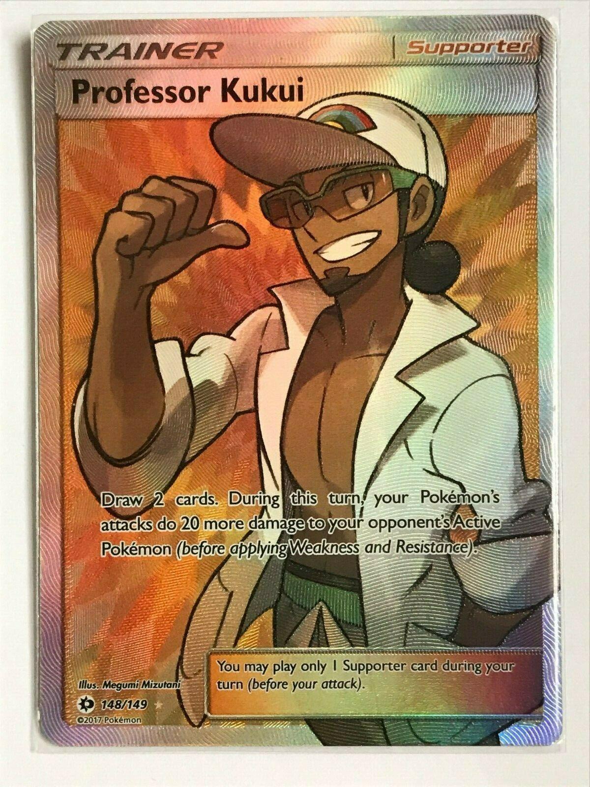 Pokemon Sun and Moon Professor Kukui 148//149 Full Art Ultra Rare Card