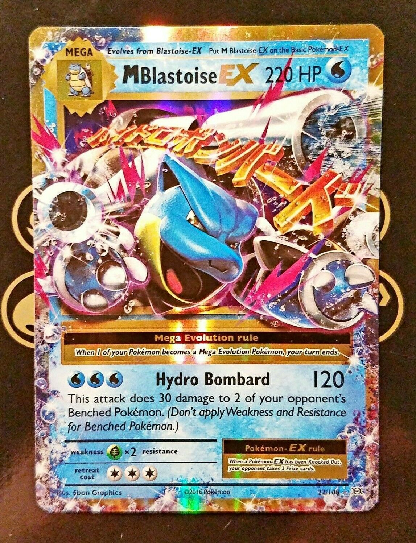Pokemon Mega Blastoise EX XY Evolutions 22//108 Ultra Rare Holo NM