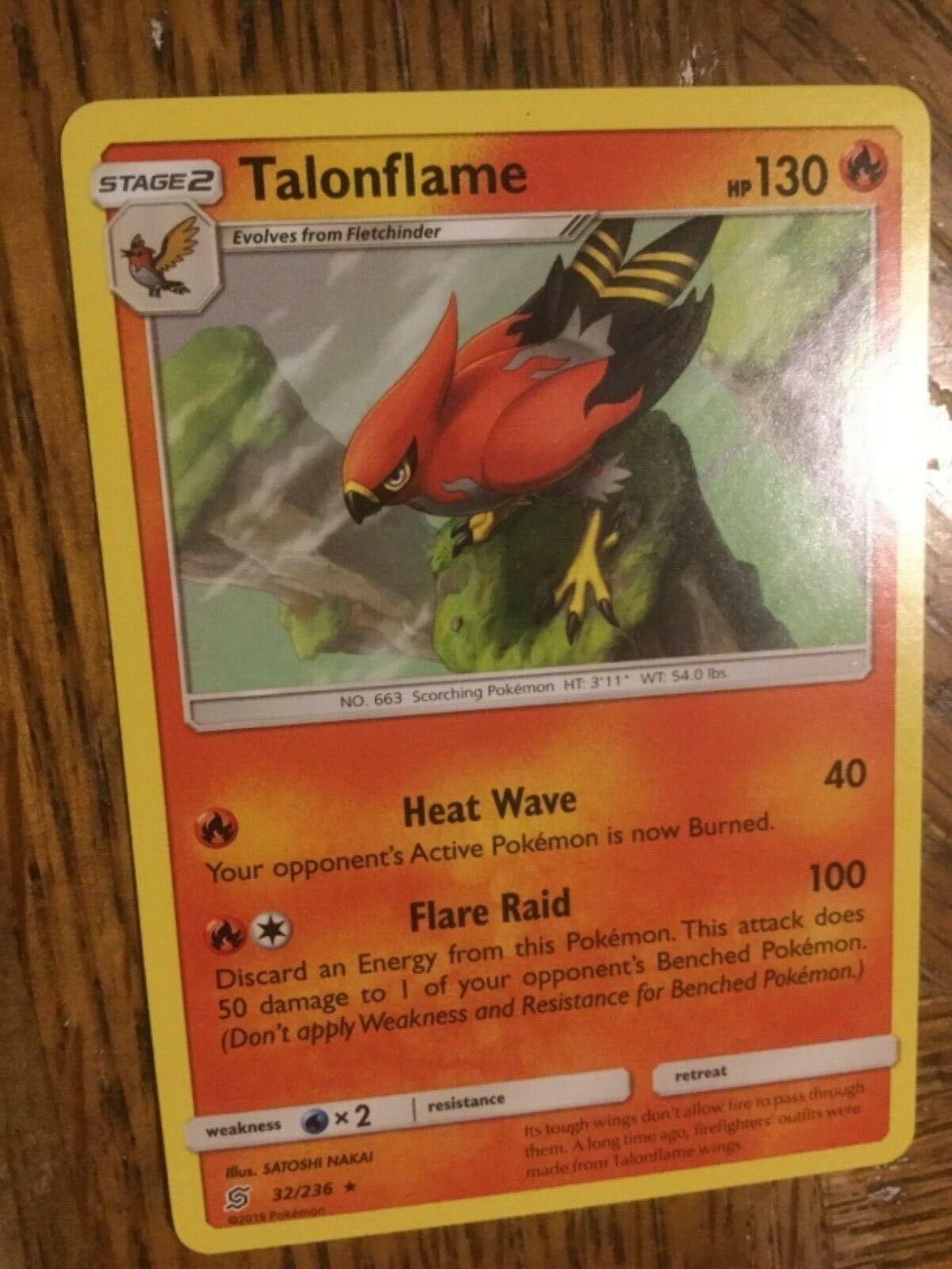 Pokemon Rare Talonflame Unified Minds #32/236