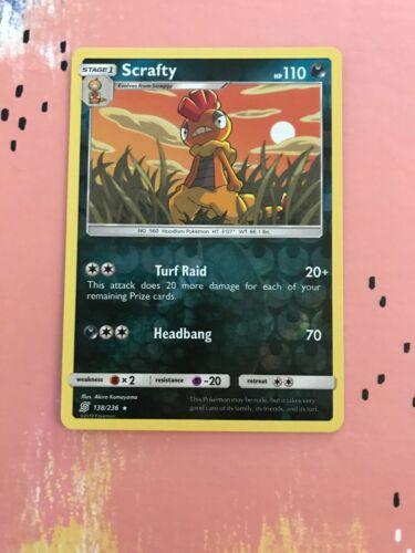 138/236 Scrafty / Pokemon Card / TCG / SM-11 / Unified Minds - REVERSE HOLO