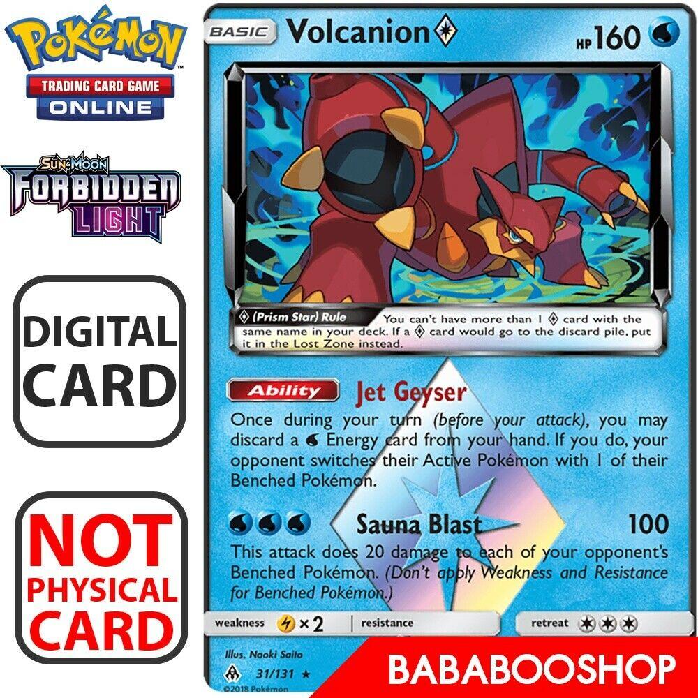 Volcanion 31//131 S/&M Prism Star Forbidden Light HOLO RARE PERFECT MINT Pokemon