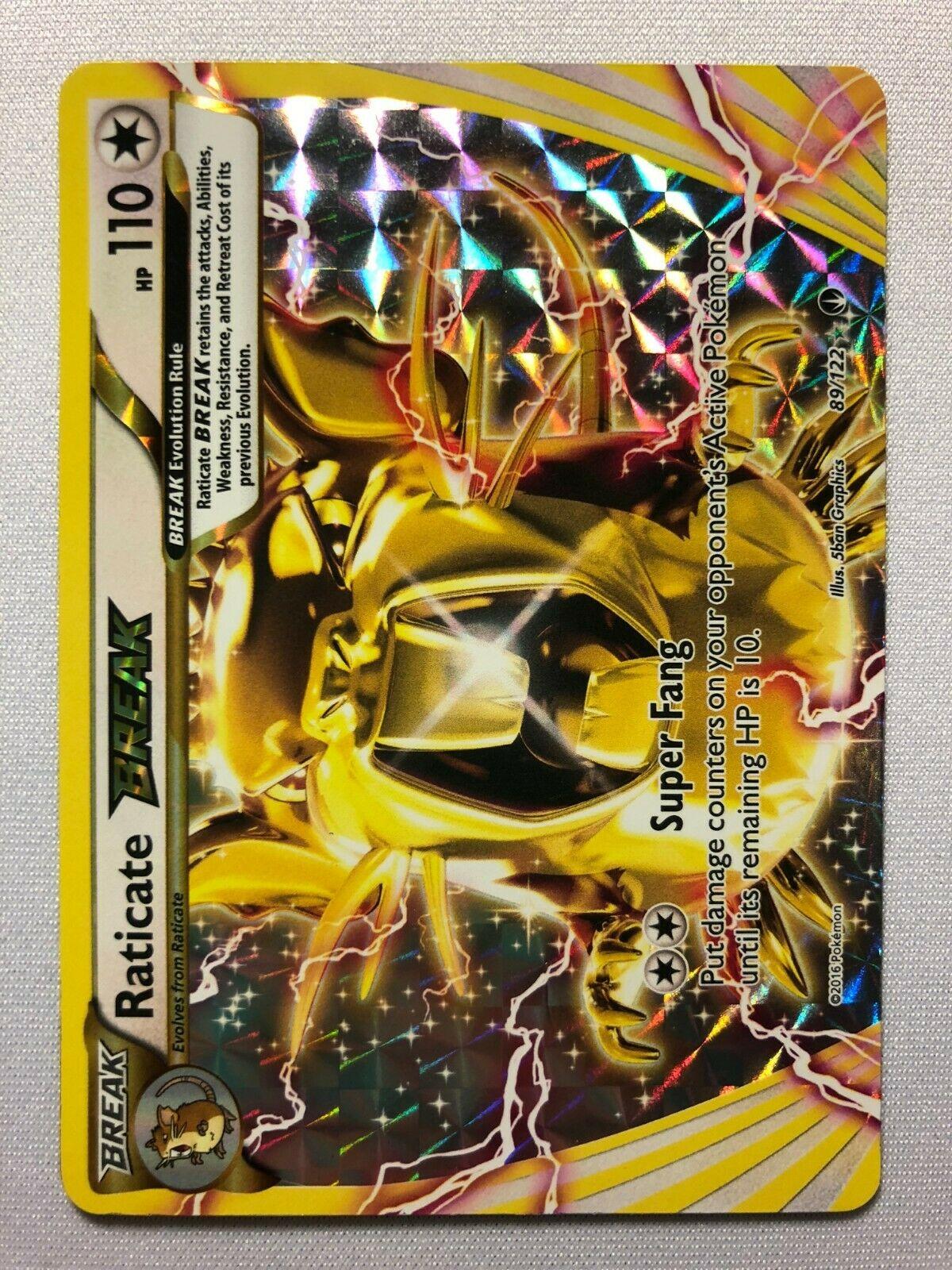 XY BREAKpoint 89//122 Rare Break Pokemon: Raticate Break