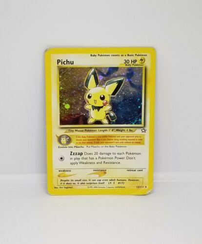 PSA 8 NM MINT Pichu 1st Edition Neo Genesis Holo Pokemon WOTC 2000
