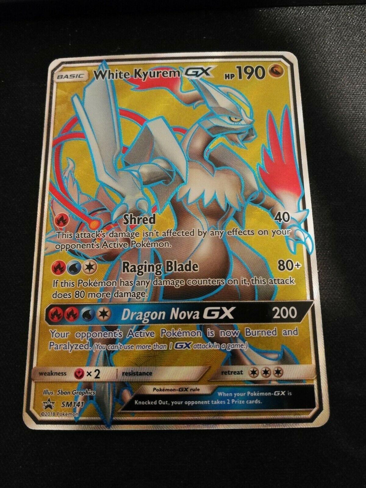 White Kyurem GX SM141 Black Star Promo Holo Mint Pokemon Card