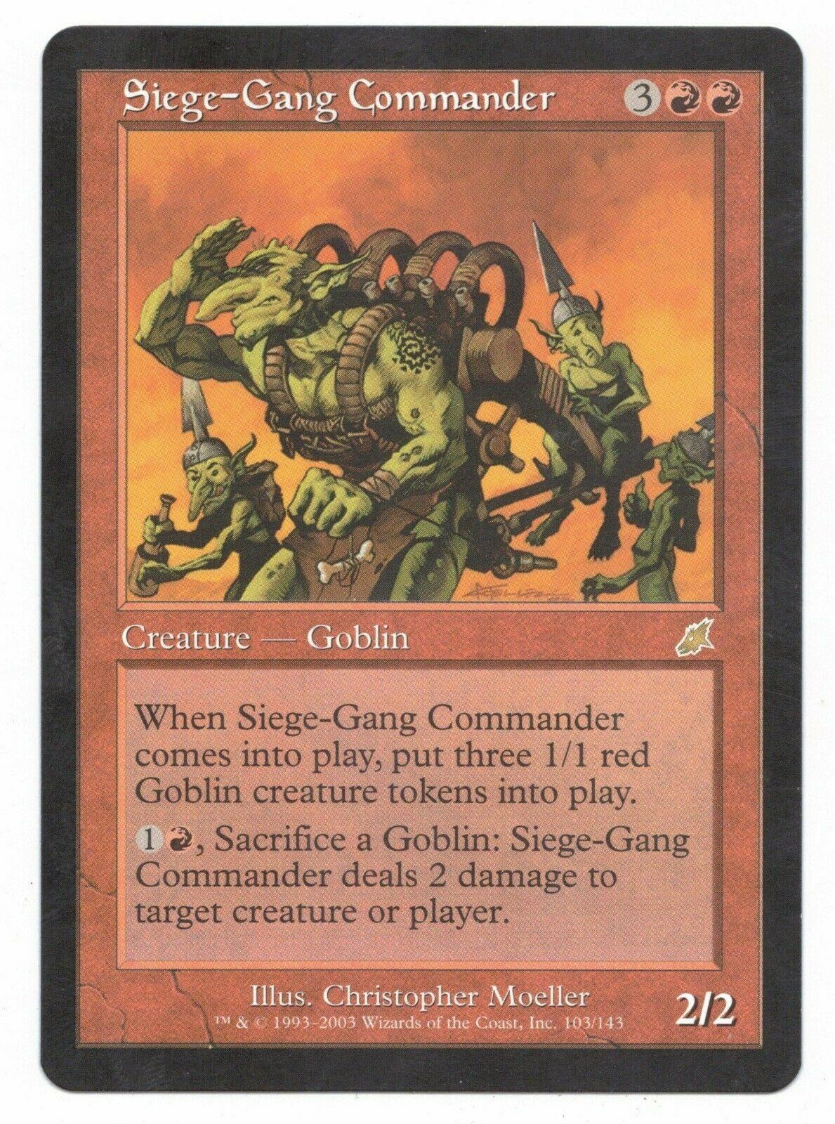 Red m10 Magic 2010 Mtg Magic Rare 1x x1 1 Siege-Gang Commander