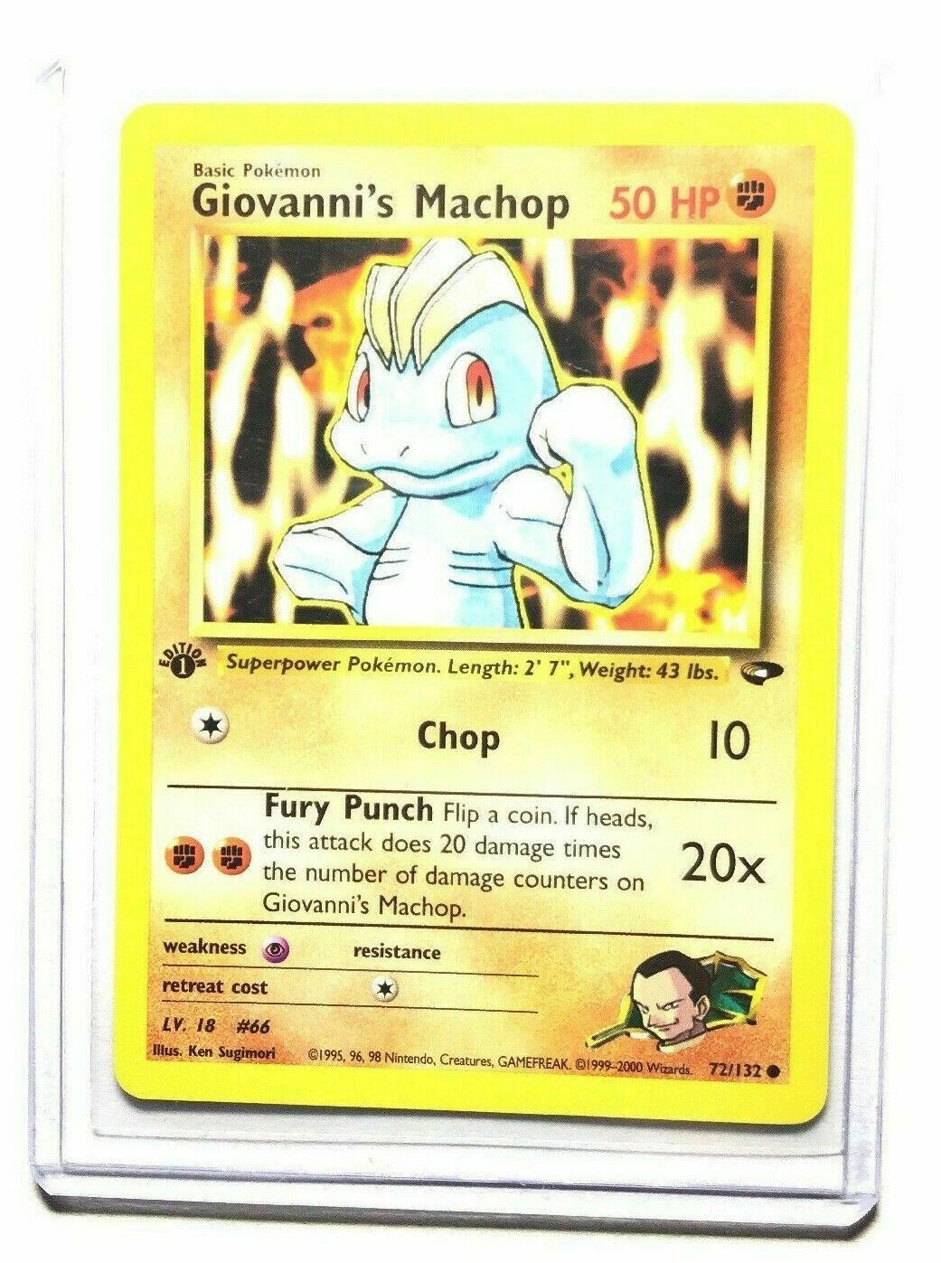 Gym Challenge Set COMMON Giovanni/'s Machop 72//132 Pokemon 1st Ed NM//M