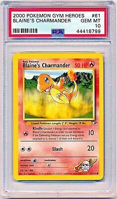 NM BLAINE'S CHARMANDER 61//132 Common Pokemon 1st Edition Gym Heroes