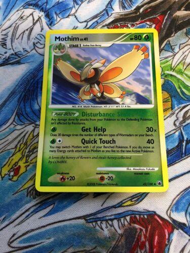 Mothim Uncommon NM Promo Pokemon 2B3 Prerelease - 42//100