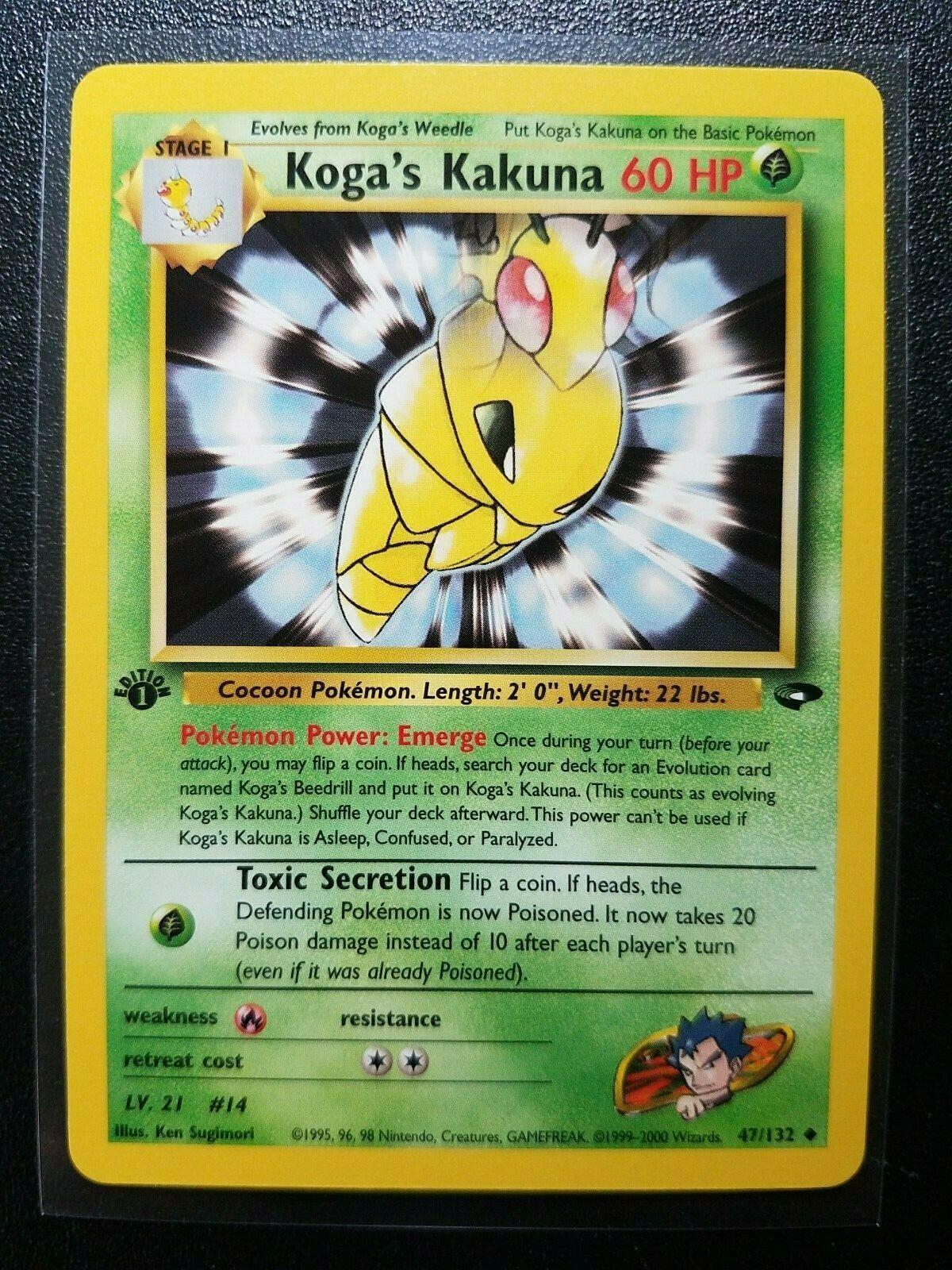 Pokemon Gym Challenge Set UN-COMMON Koga/'s Kakuna 47//132 NM//M Condition