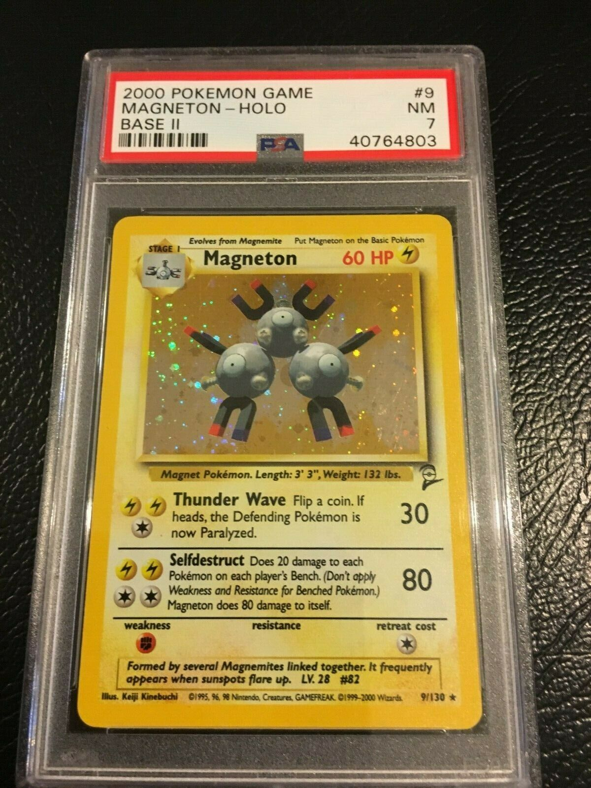 POKEMON CARD BASE SET 2 Magneton 9//130 HOLO FOIL RARE NM NEAR MINT