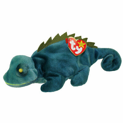 Ty Beanie Baby Iggy The Tye-Dye Iguana With Tongue /& Spine Hang Tag Tie Dye MWMT