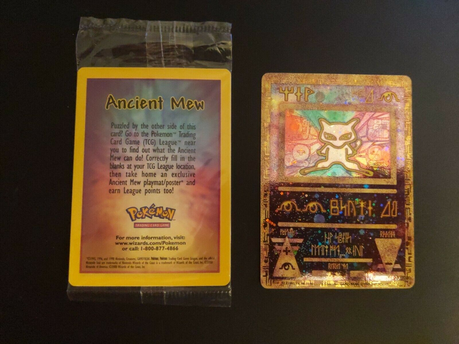 LP//Sealed ANCIENT MEW Promo Pokemon The MOVIE 2000 Card Ultra Rare Holo Foil US