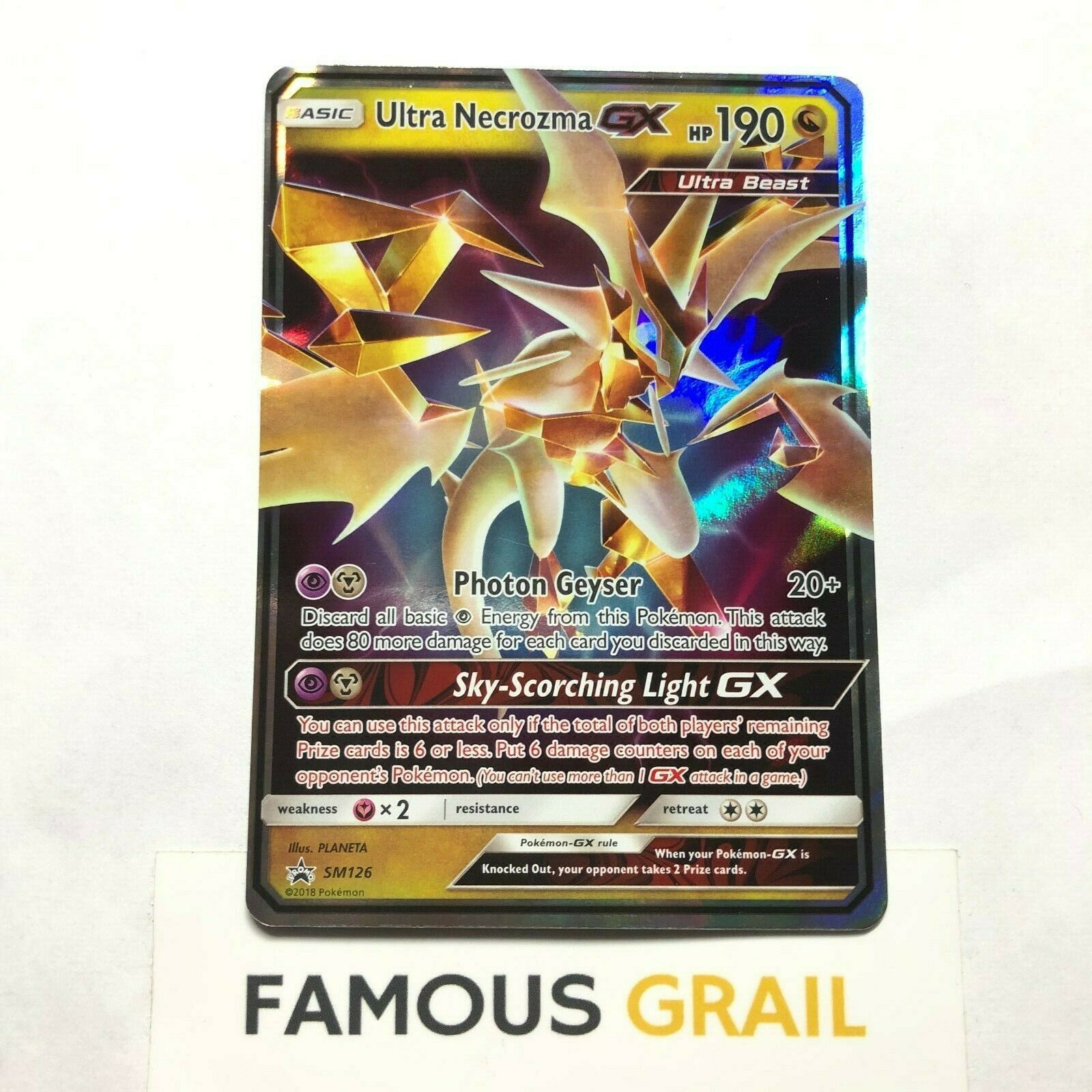 Pokemon TCG Ultra Necrozma GX SM126 Promo from Dragon Majesty Collection Box