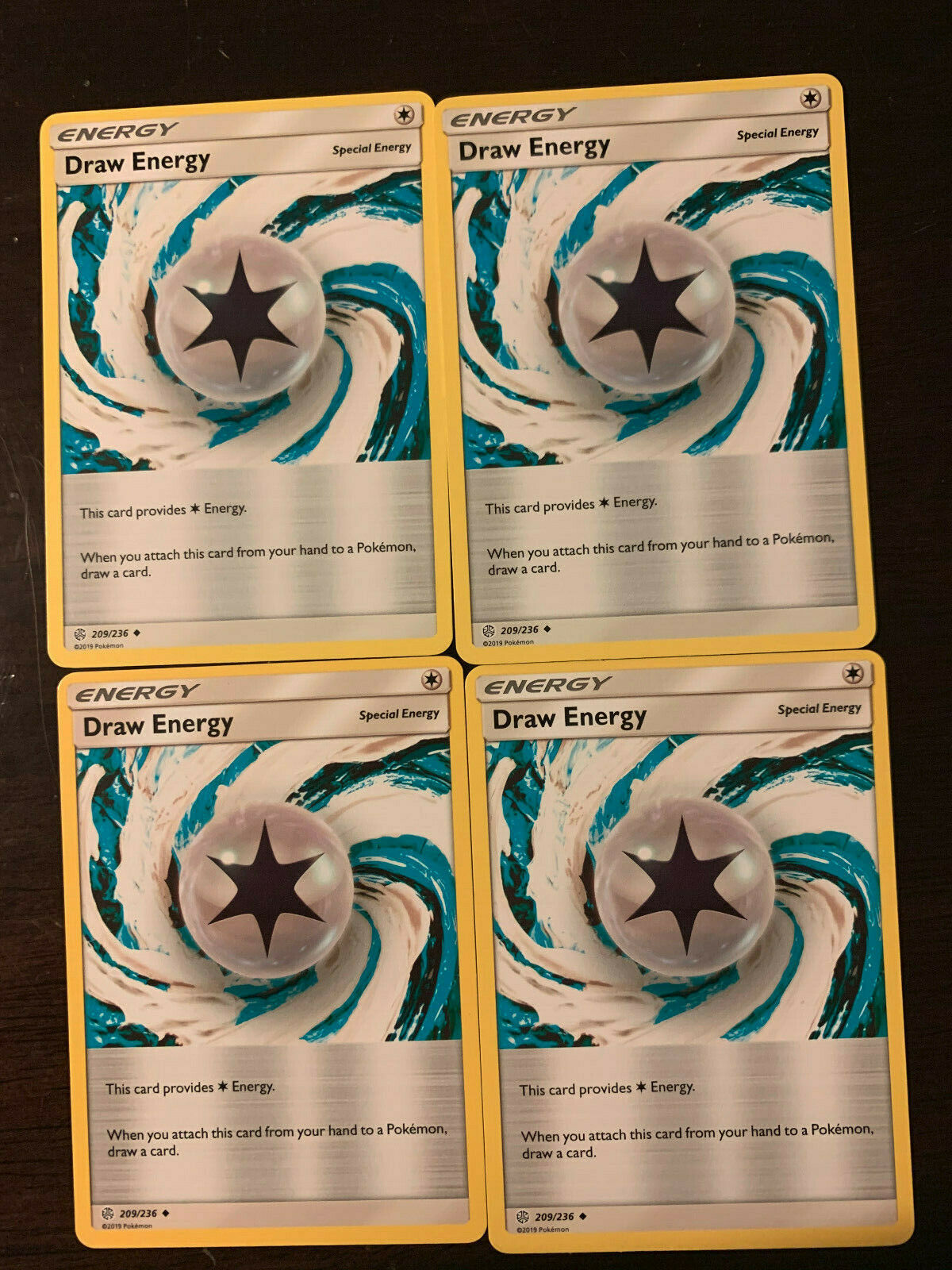 TCG SM-12 Cosmic Eclipse PLAYSET Pokemon Card Game 209//236 Draw Energy