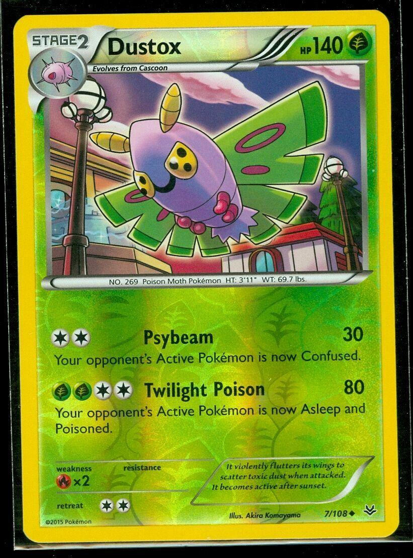 DUSTOX 7//108 POKEMON XY ROARING SKIES CARD